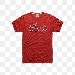 T-shirt - T-shirt Ohio State University Marching Band Script Ohio Sleeve PNG