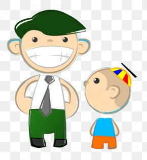 Dad Cliparts - Fathers Day Son Child Clip Art PNG
