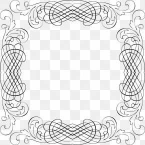 Line Frame - Line Art Drawing Picture Frames PNG