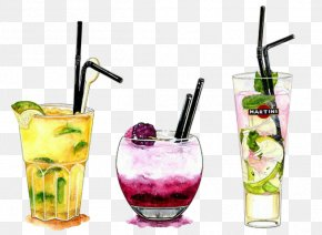 Cocktail - Cocktail Watercolor Painting Illustration Drawing Alcoholic Drink PNG