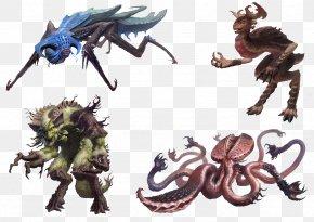Four Monster - Monster Concept Art Legendary Creature Bestiary PNG