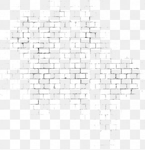 Vintage Black Brick Wall Background - Black And White Angle Pattern PNG