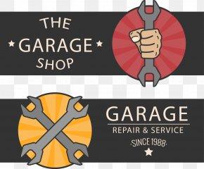 2 Car Repair Retro Card Vector - Car Automobile Repair Shop Poster Motor Vehicle Service PNG