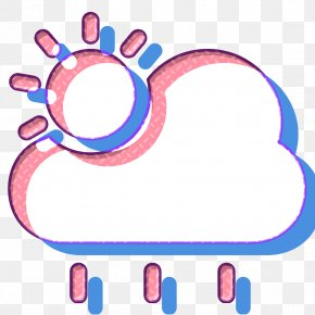Magenta Weather Icon - Cloud Icon Cloudy Icon Forecast Icon PNG