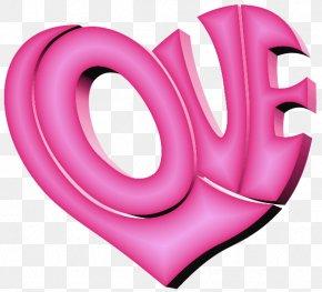 Pink Love Heart - Heart Love Clip Art PNG