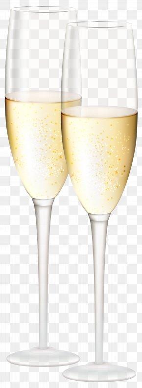 Champagne Glasses Transparent Clip Art Image - White Wine Champagne Glass Cocktail Wine Glass PNG
