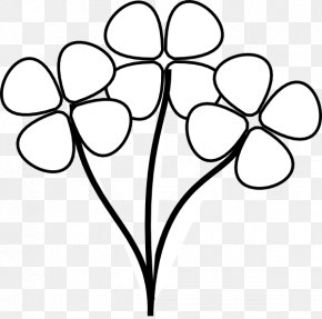 Black And White Flower Art - Flower Black And White Clip Art PNG
