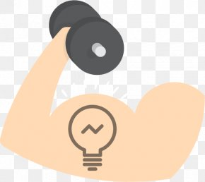 Biceps Bulb - Muscle Symbol Weight Training Clip Art PNG