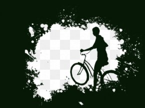Free People Black And White Bicycle Buckle Material - Bicycle Black And White Cycling Download PNG