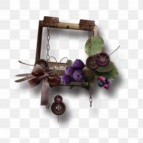 Vintage Frame Blueberries - Picture Frame PNG