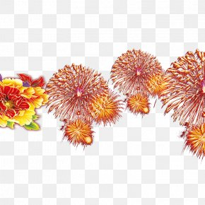 Chinese New Year Fireworks - Chinese New Year Fireworks Firecracker PNG