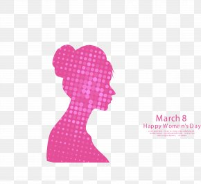 Pink March 8 Women's Day Poster - International Womens Day March 8 Woman PNG