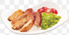 Chi Hong Chicken Rice - Red Braised Pork Belly Char Siu Hainanese Chicken Rice Risotto Barbecue Chicken PNG