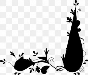 M Illustration Clip Art Leaf Flower - Black & White PNG