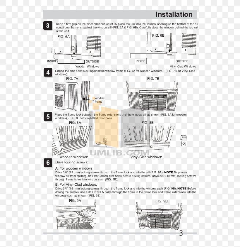 Window Friedrich Air Conditioning Frigidaire Diagram, PNG, 595x842px,  Window, Air Conditioning, Area, British Thermal Unit, DiagramFAVPNG.com