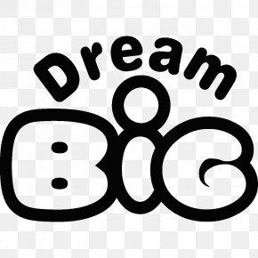 Dream Big - Brand Line Logo White Clip Art PNG