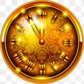Rolex - Christmas Ornament Clock New Year Clip Art PNG