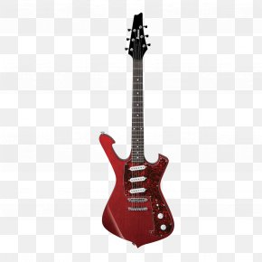 Art Red Electric Guitar - Ibanez Electric Guitar Guitarist Shred Guitar PNG