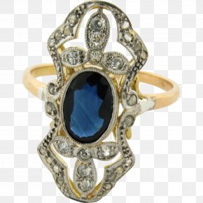Sapphire - Sapphire Ring Colored Gold Carat Diamond PNG