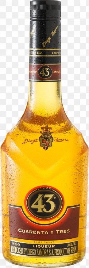 Liqueur Bottle Image - Distilled Beverage Cocktail Vodka Licor 43 Liqueur PNG