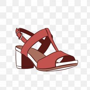 Vector Crude Low-heeled Sandals T Word Creative - Shoe High-heeled Footwear Sneakers Sandal PNG