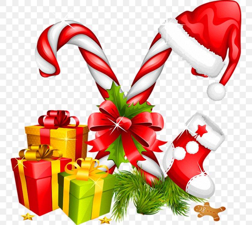 Santa Claus Candy Cane Christmas Decoration Clip Art, PNG, 750x734px, Candy Cane, Christmas, Christmas Decoration, Christmas Gift, Christmas Lights Download Free