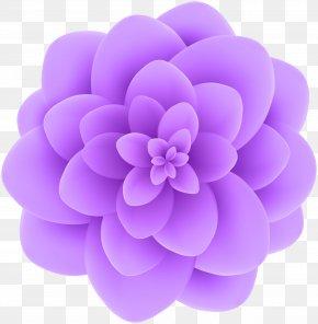 Deco Violet Flower Transparent Clip Art Image - Flower Violet Blue Clip Art PNG
