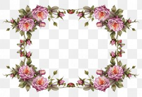 Watercolor Flower Border - Borders And Frames Picture Frames Flower Clip Art PNG