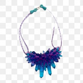 Purple Crystal Necklace - Earring Necklace Jewellery Pendant Crystal PNG