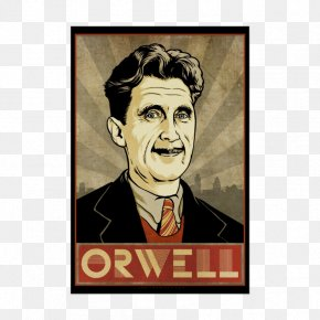 Poster - Nineteen Eighty-Four Animal Farm George Orwell Big Brother Politics And The English Language PNG