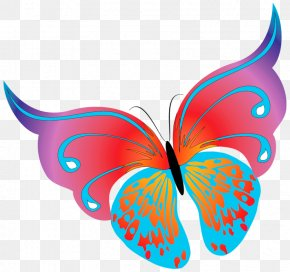 Painted Transparent Butterfly Clipart - Butterfly Clip Art PNG