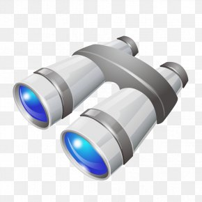Cartoon Telescope Model - Binoculars Small Telescope Cartoon PNG