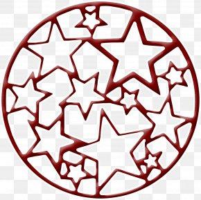 Red Star Frame - Bicycle Frame Crankset Winch Bolt Circle PNG