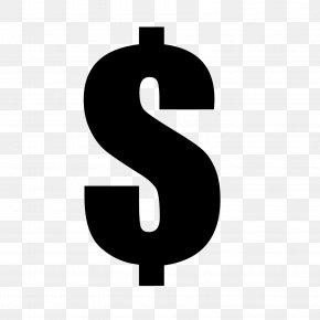 Dollar Sign - Dollar Sign T-shirt Black Money PNG