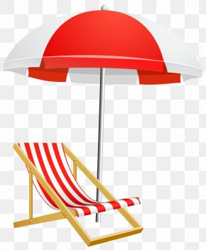 Beach Umbrella And Chair Transparent Clip Art Image - Umbrella Beach Clip Art PNG
