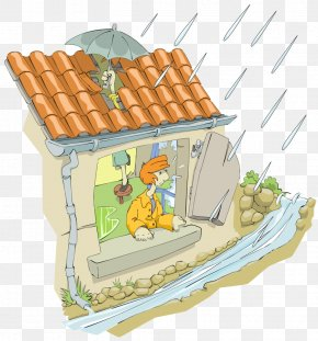 Roof - House Roof Leak Building Clip Art PNG