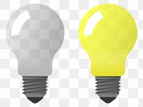 Bulb Off - Incandescent Light Bulb Lamp Clip Art PNG