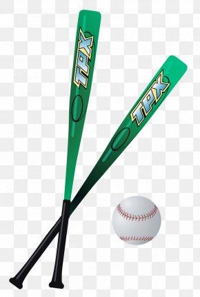 Baseball Bats Vector Clipart - Baseball Bat Racket Clip Art PNG