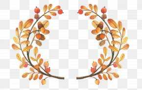 Autumn Leaves Border - Bridal Shower Baby Shower Cucurbita Autumn Text PNG