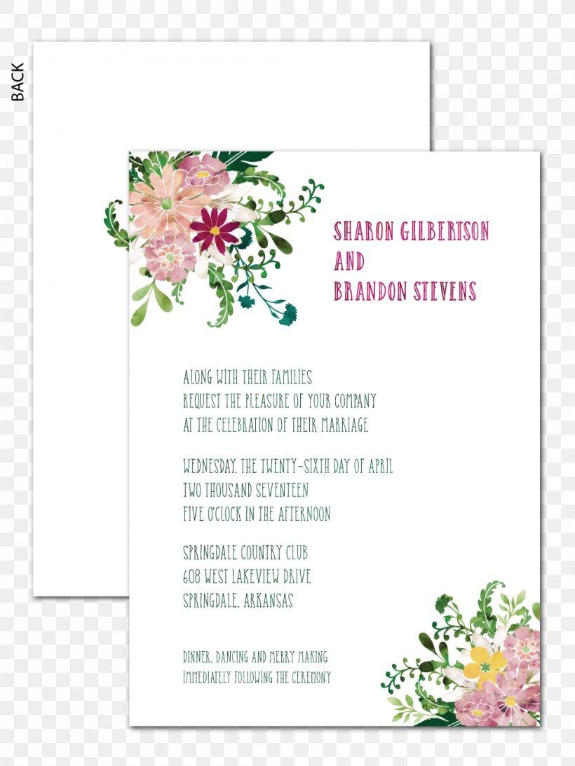 Floral Design Wedding Invitation Paper Flower Bouquet Place