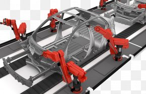 Automobile Factory Assembly Line - Car Factory Automation Automotive Industry Production Line PNG