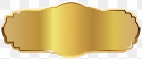 Gold Label Clipart Image - Gold Icon PNG
