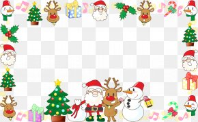 Santa Claus Christmas Decoration Border Frame - Santa Claus Christmas Ornament Illustration PNG