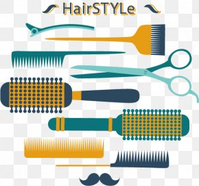 Vector Painted Hairdressing Supplies - Comb Hairdresser Barber Beauty Parlour PNG