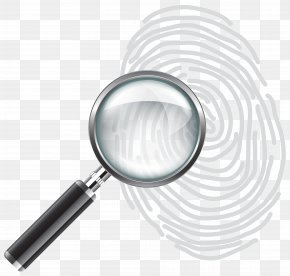 Magnifying Glass With Fingerprint Clip Art Image - Magnifying Glass Fingerprint Clip Art PNG