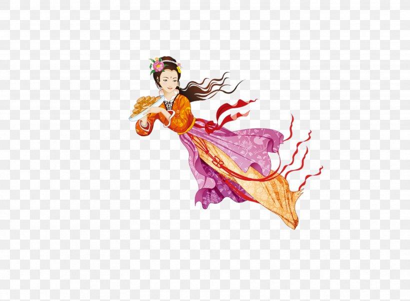 Mooncake Mid-Autumn Festival Change U5e7fu5bd2u5bab, PNG, 3328x2451px, Mooncake, Art, Change, Costume Design, Designer Download Free