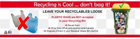 Bag - Plastic Bag Rubbish Bins & Waste Paper Baskets Bin Bag Recycling PNG