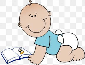 Animated Reading Clipart - Infant Book Reading Clip Art PNG