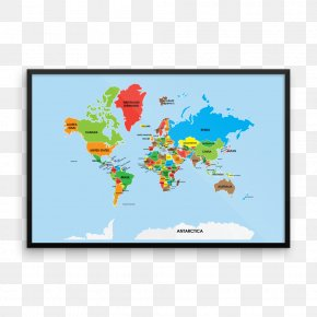 World Map - World Map Spanish English PNG