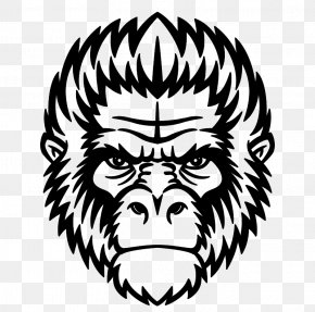Gorilla - Ape Chimpanzee Gorilla Mandrill Monkey PNG